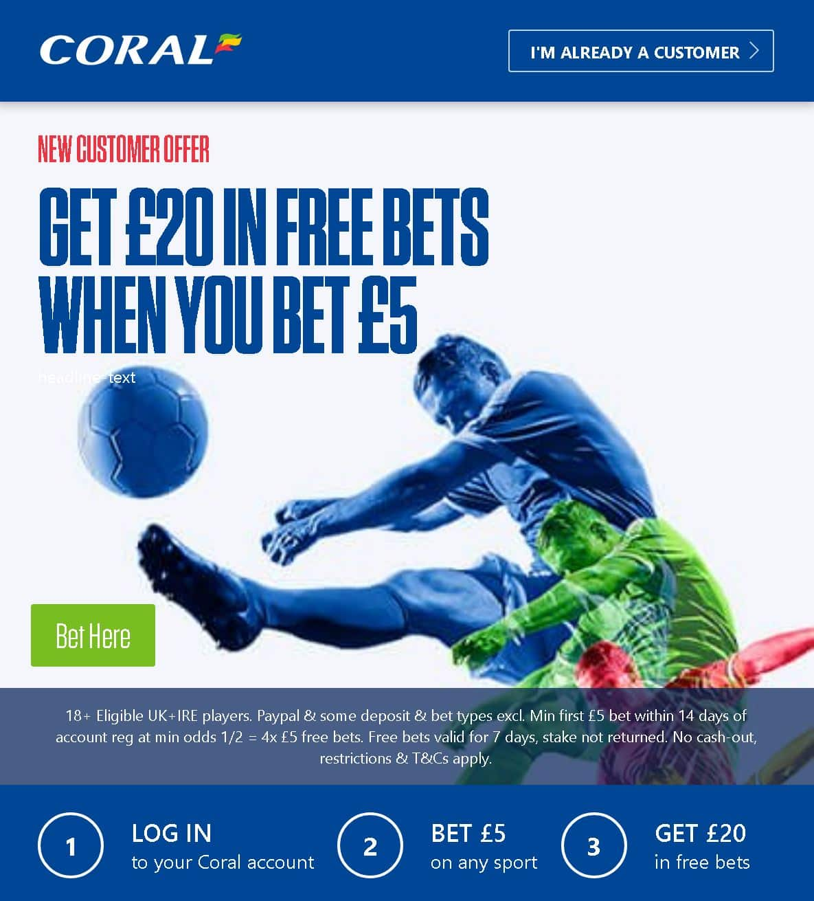 Coral free bets horse racing