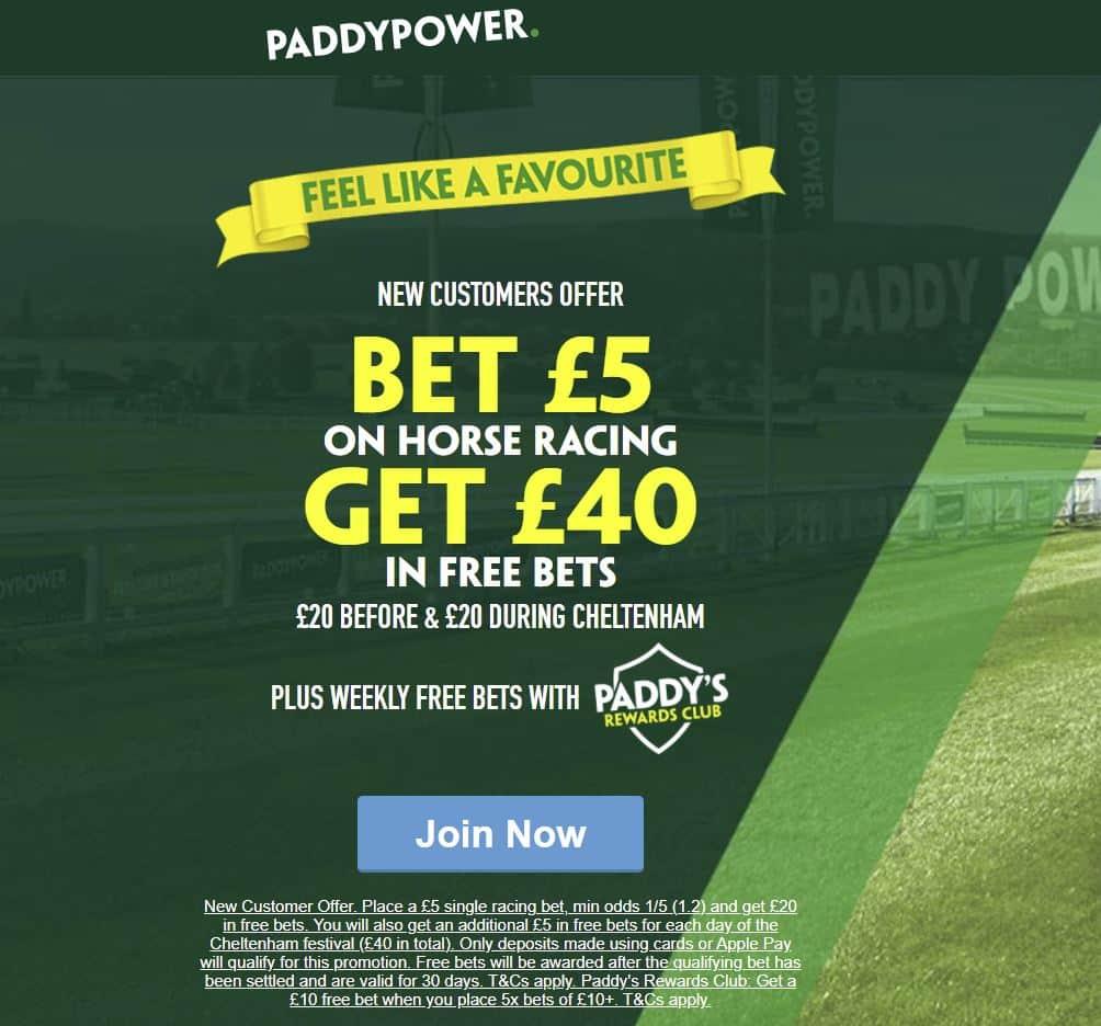 Paddy Power Cheltenham free bets