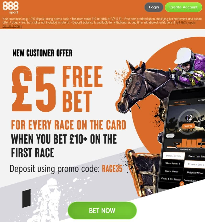 888Sport £35 in free bets