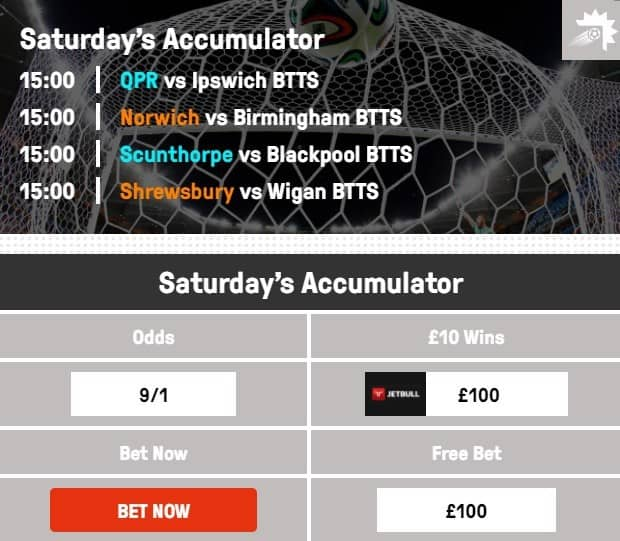 Both Teams to Score Predictions for Saturday's Betting Tip at 9/1