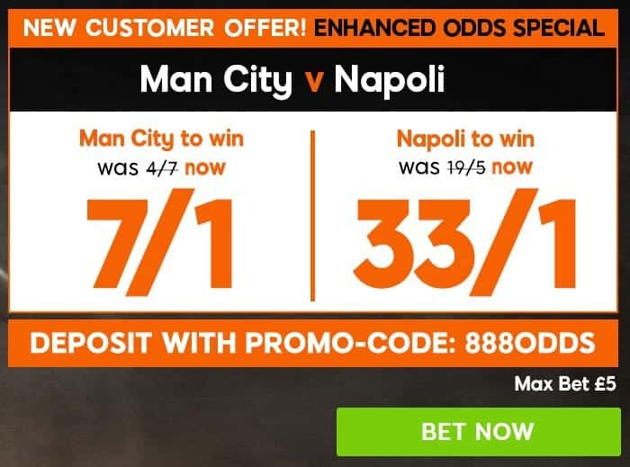 Man-City-Napoli-888 Manchester City vs Napoli Predictions, Betting Tips and Preview | Champions League