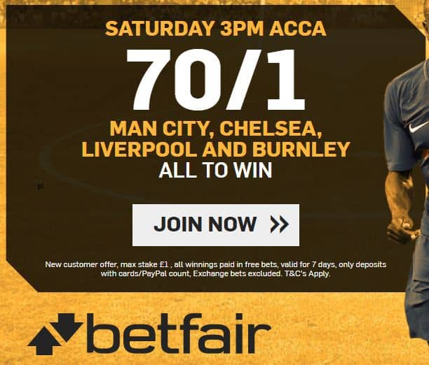 Betfair-enhanced-acca-18th-Nov Burnley vs Swansea Predictions, Betting Tips and Preview | Premier League