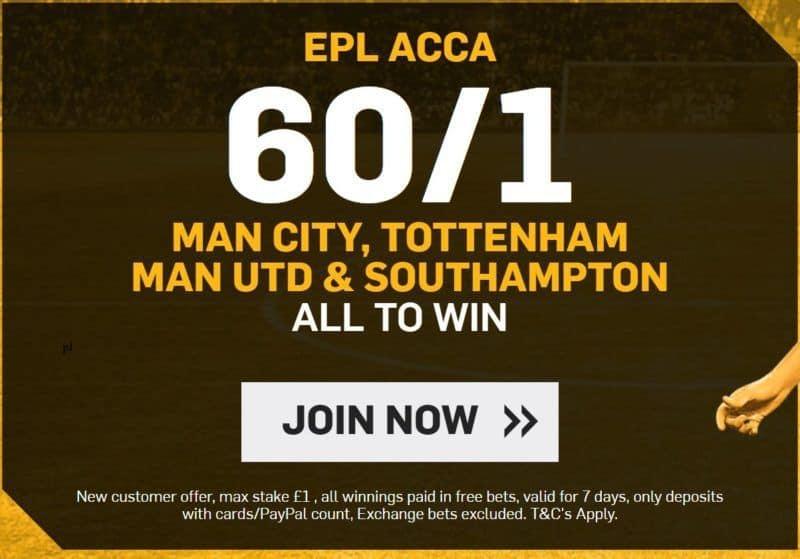 Acca-23rd-Dec 60/1 Premier League Accumulator for Saturday 23rd December