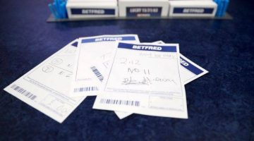 Horse racing betting slips