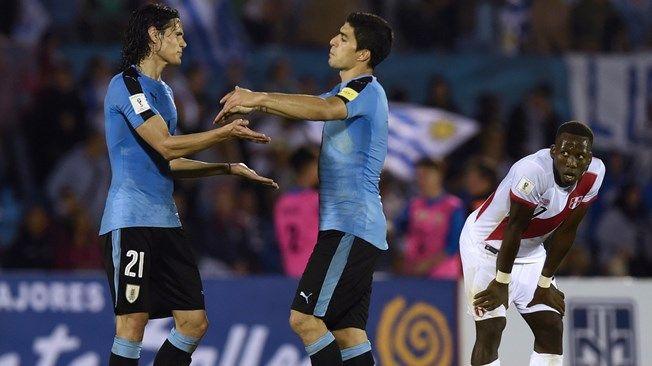 World Cup Group A Suarez and Cavani