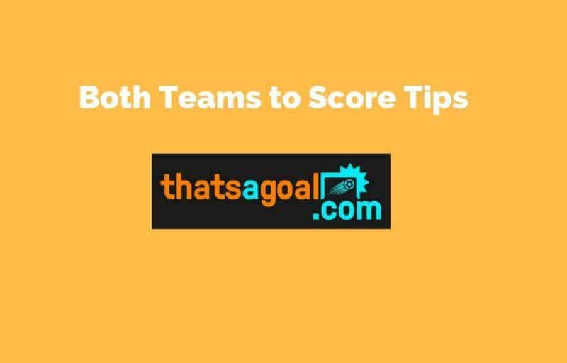 both teams to score tips - football tips