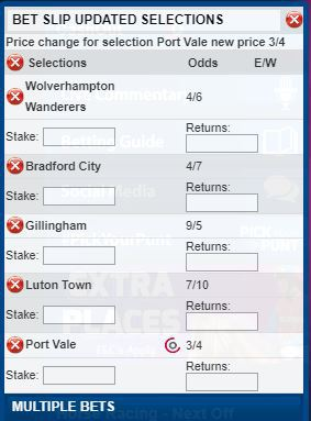 accumulator tips Saturday