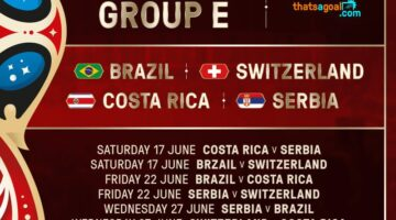 World Cup Group E fixtures