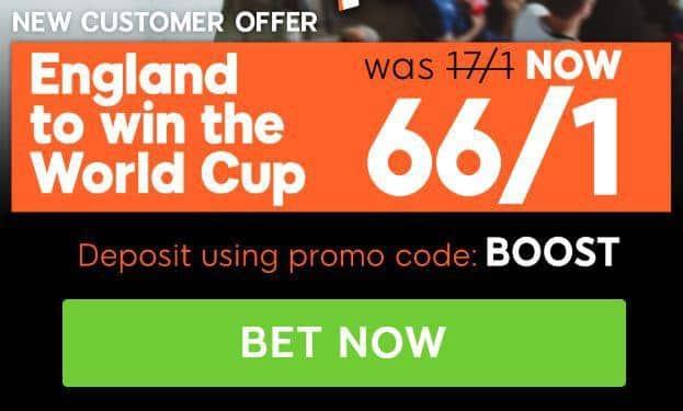England enhanced odds