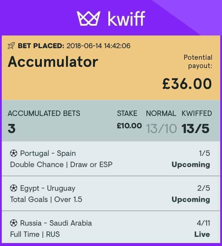 Kwiff betting