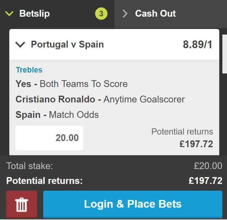 Portugal vs Spain betting tip