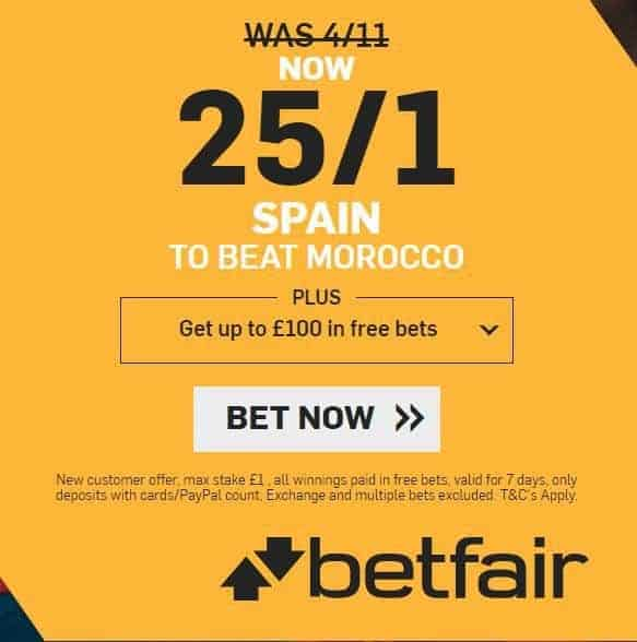 Spain to beat Morocco