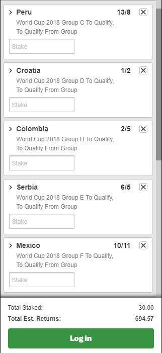 World Cup accumulator
