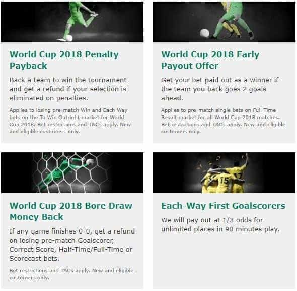 bet365 world Cup 2018 offers
