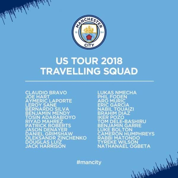 Man City ICC squad