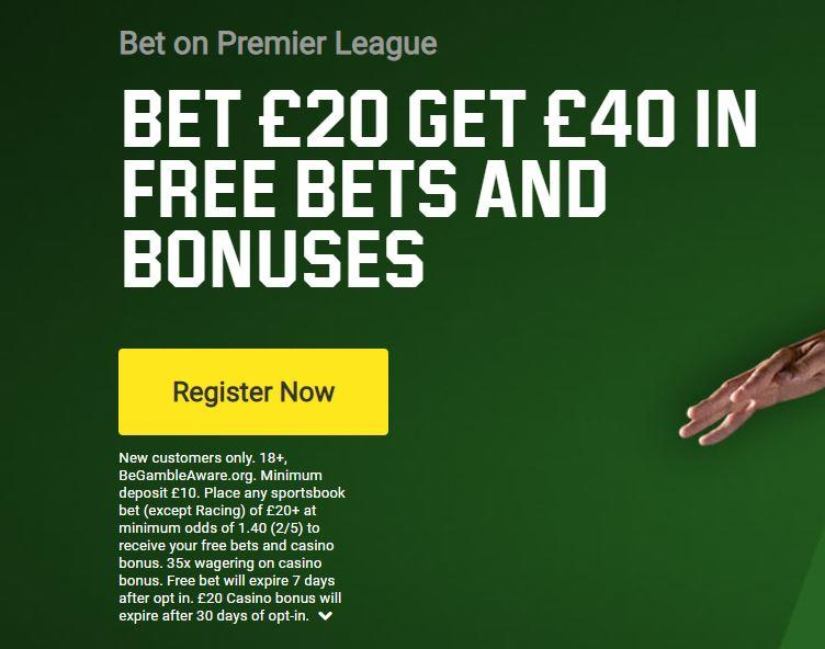 Unibet sign-up offer