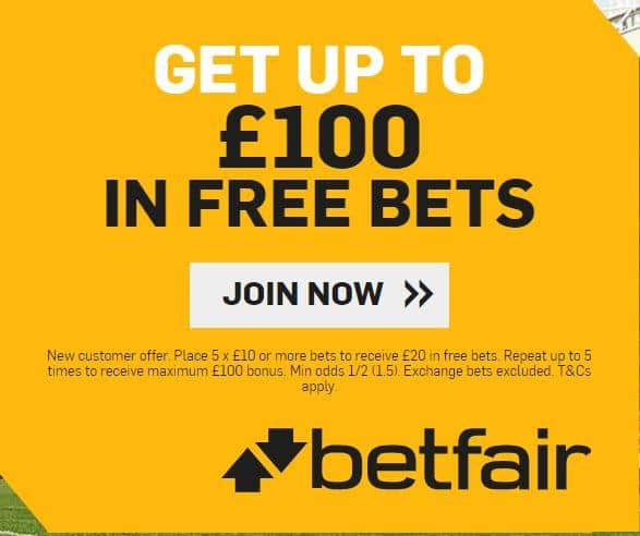 Betfair sign-up offer
