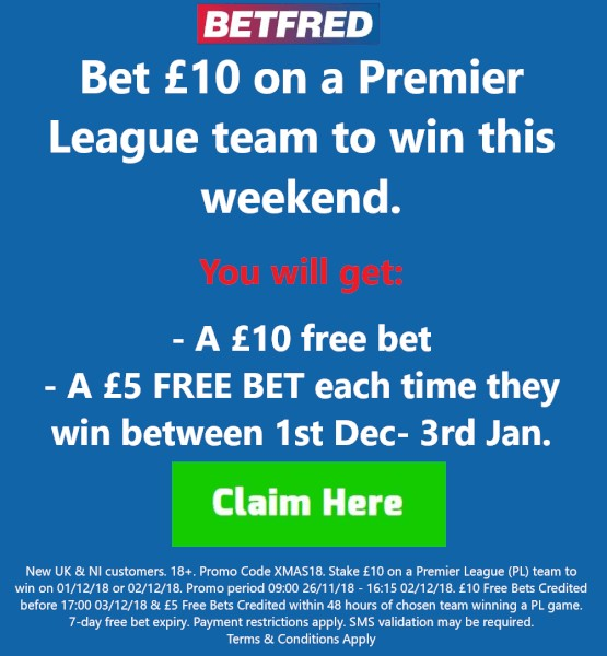Betfred Xmas sign-up offer