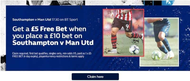 Free £5 bet William Hill
