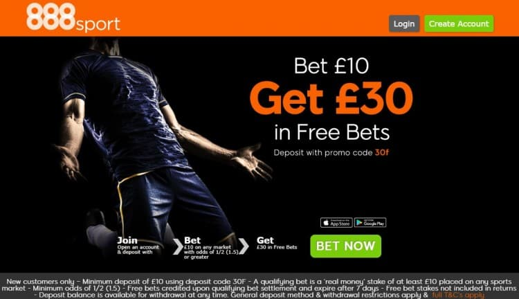 888Sport-free-bet-new-site How to get £40 of free bets for the price of £10 this weekend
