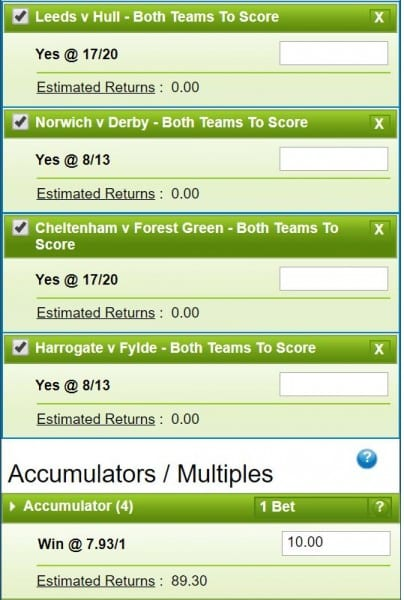 Both Teams to Score Tips and Predictions - 29th December