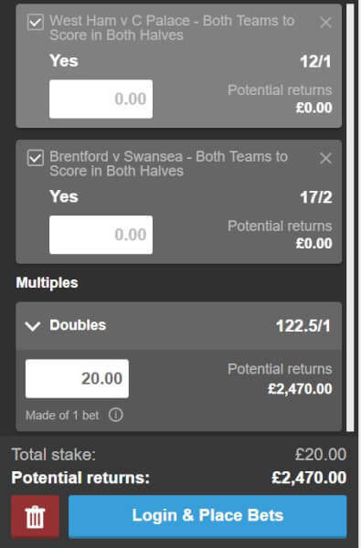 Both Teams to Score in Both Halves Tips - BTTS Both Halves