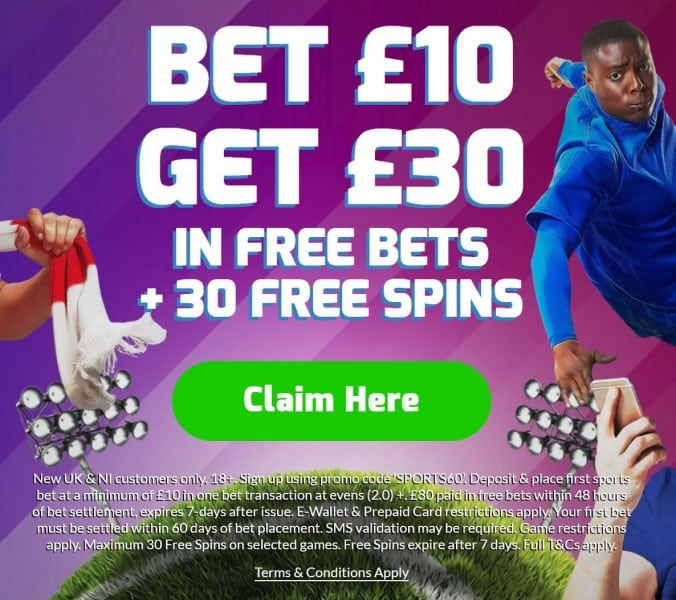 Betfred-10-get-30 Crystal Palace vs Tottenham Predictions and Betting Tips: FA Cup Preview