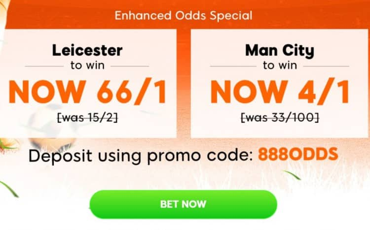 Leicester v Man City price boosts