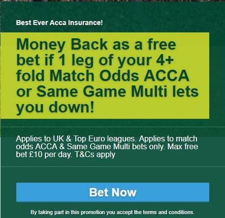 Paddy Power acca insurance