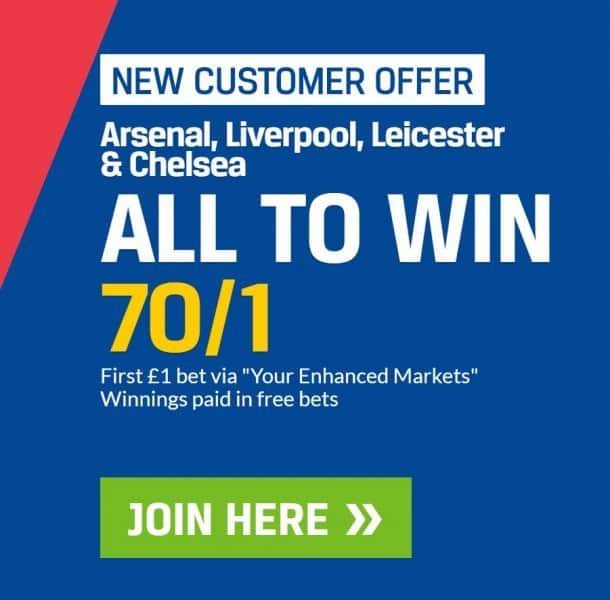 70s-acca-Coral-11th-Jan 70/1 Premier League Accumulator for Saturday 12th January