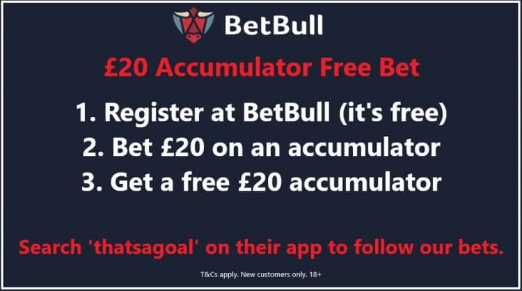 BetBull-Twitter-new Football Accumulator Tips for Tonight's Matches - 12/02/19