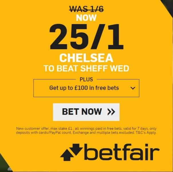 Chelsea-25s-Sheff-Wed Chelsea vs Sheffield Wednesday Predictions and Betting Tips: FA Cup Preview