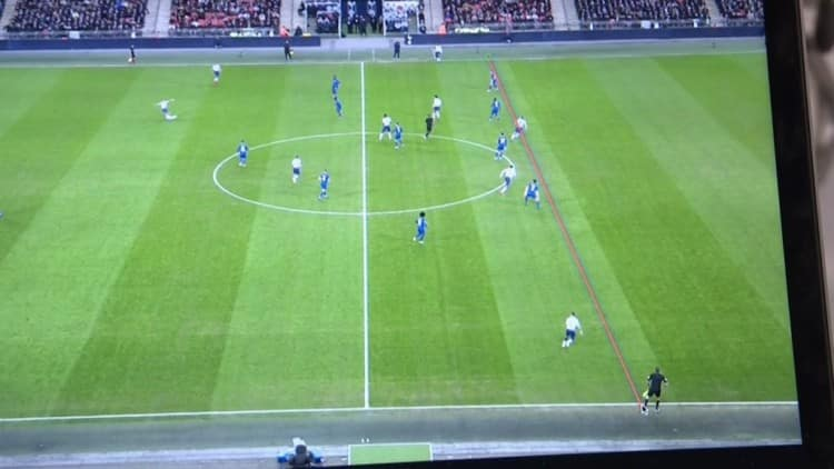 Kane-Offside Harry Kane WAS Offside Before Winning a Penalty Against Chelsea