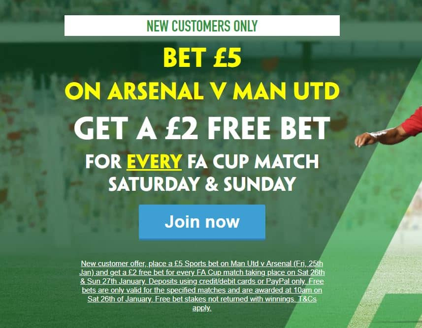 Paddy-Power-FA-Cup Paddy Power Giving New Customers a £2 bet for EVERY Weekend FA Cup Tie