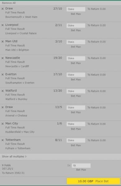 Premier-League-acca-19th-Jan Premier League Mega Accumulator this Weekend - £10 wins £5373