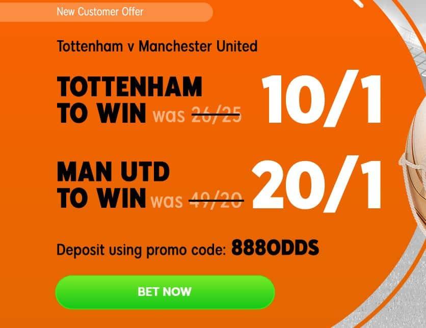 Tottenham v Man United betting tips