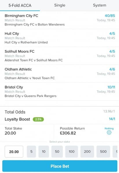 Acca-12th-Feb Football Accumulator Tips for Tonight's Matches - 12/02/19