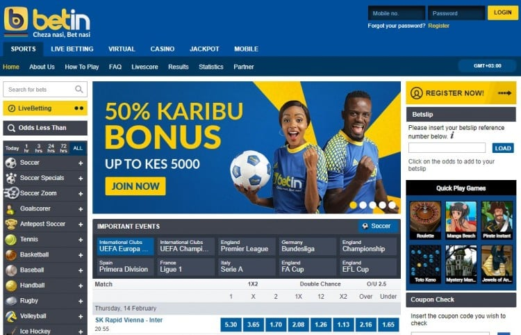 Betin Keyna Bonus Code and Free Bet 2019