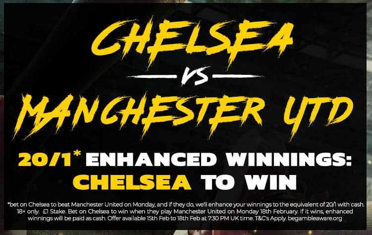 Chelsea to win enhanced odds