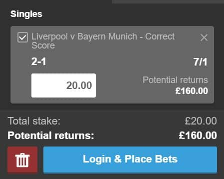 Liverpool-2-1 How to use Paddy Power's sign-up offer on Liverpool vs Bayern Munich