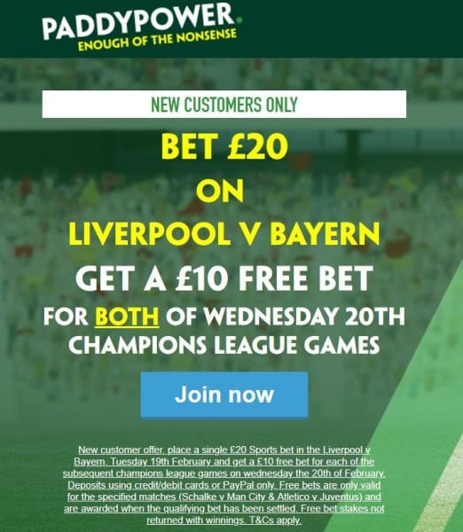 Paddy-Power-Liverpool-Bayern How to use Paddy Power's sign-up offer on Liverpool vs Bayern Munich
