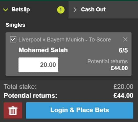 Salah-anytime-Bayenr How to use Paddy Power's sign-up offer on Liverpool vs Bayern Munich