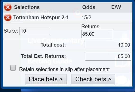 Spurs-2-1 Tottenham vs Leicester Predictions and Betting Tips