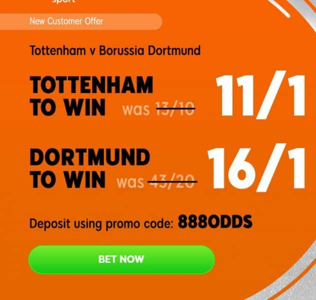 Spurs-Dortmund-888 Tottenham vs Borussia Dortmund Predictions and Betting Tips: Champions League