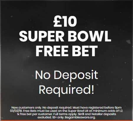 Super Bowl free bet