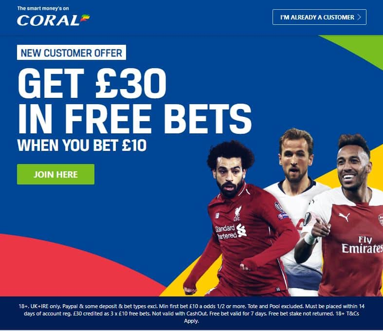 Coral-sign-up-new How to get £30 of Free Bets at Coral for 2019