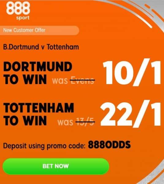 Dortmund-Spurs-offer Borussia Dortmund vs Tottenham Predictions and Betting Tips: Champions League Preview