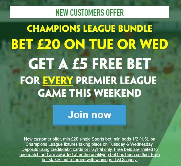 Paddy-Power-10-free Tonight's Champions League Betting Tips - Porto v Roma & PSG v Man Utd