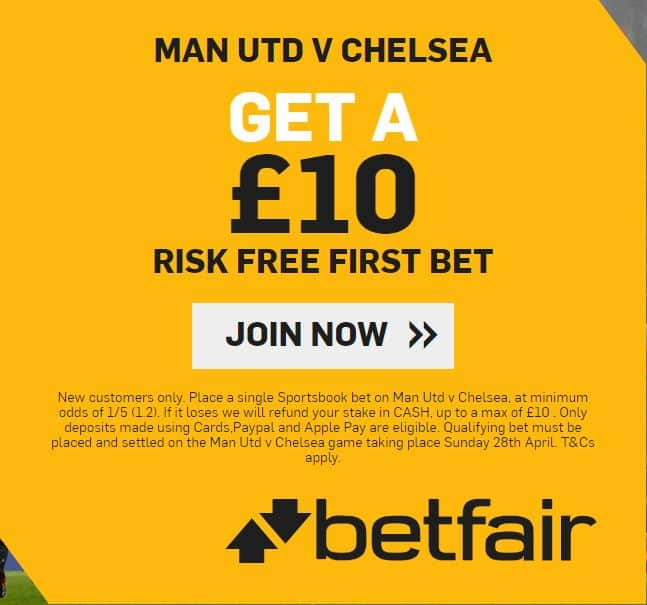 Man City vs Chelsea £10