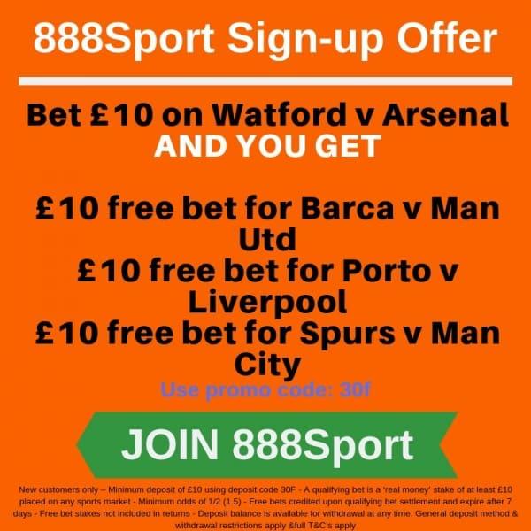 Watford-Arsenal-888 Watford vs Arsenal Predictions and Betting Tips: Premier League Preview
